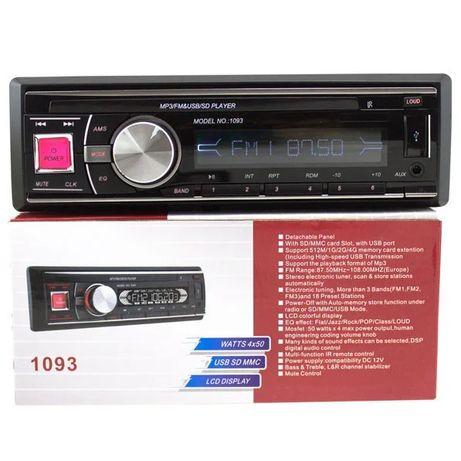 Универсальня Автомагнитола MP3 1093 (съемная панель) Usb+Sd+Fm+Aux+ пу