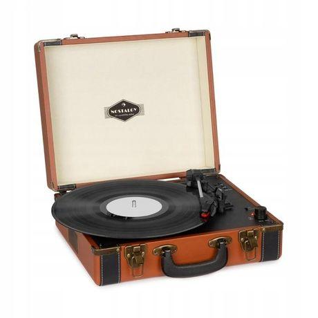 Gramofon retro walizka BT Auna