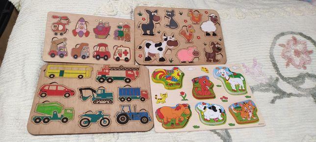Дерев'яні пазли, деревянные пазлы,игрушка из дерева