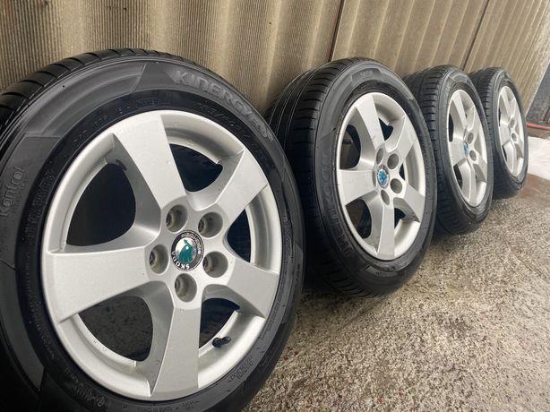 Титанові диски з резиною 5*100 R14 Skoda Fabia, VW Golf 4