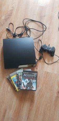 Konsola PS3 500 gb,  pad , 4 gry w zestawie cena ostateczna