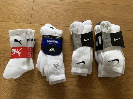 Skarpety sportowe Nike, Puma, Adidas r. 42-46 3-pak