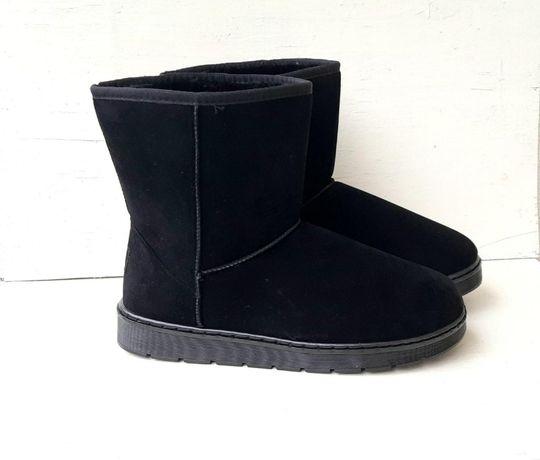 ХИТ Мужские угги теплые сапоги уги обувь на зиму взуття эко-замша