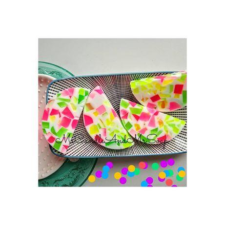 Mydło lastryko terrazzo kolorowe funny soap handmade jelly
