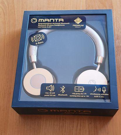 Manta słuchawki bezprzewodowe,model HDP9009, RUBY,nowe