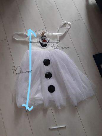 sukienka elsa kraina lodu olaf frozen