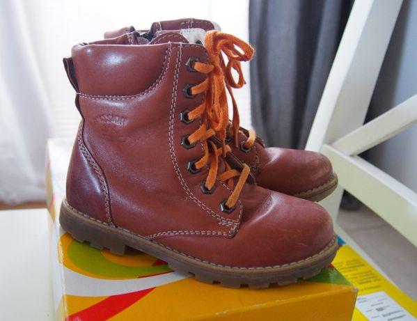 SKÓRZANE dziecięce buty zimowe, Mido Noster, r. 28