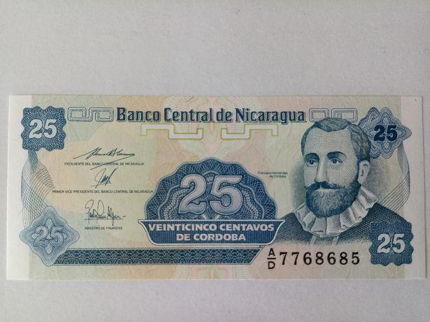 Banknot Nikaragua 25 centavo UNC