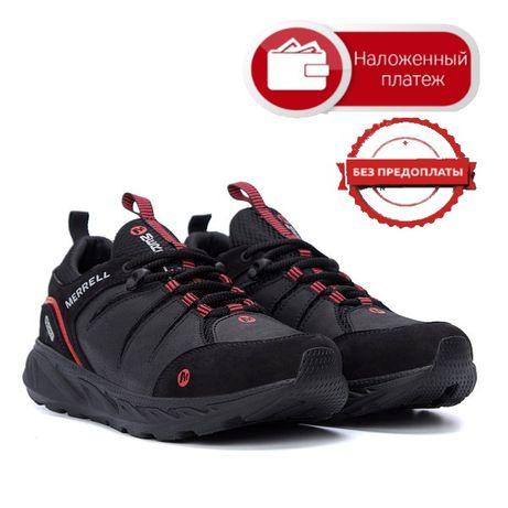 Классные Новые Мужские кожаные кроссовки МЕRRЕLL ВІасk Без предоплаты