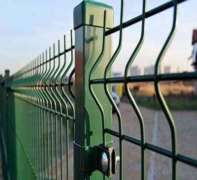 Забор секционный из сварной сетки 3D. Секционное ограждение. Калитки