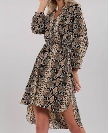 Sukienka motyw wężowej skóry 46
