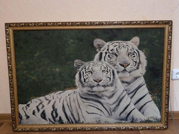 """Картина гобелен """"Тигры"""""""