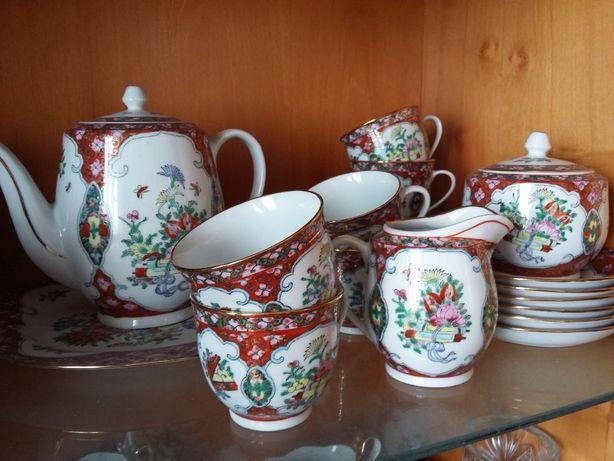 Чайный сервиз на 6 персон. Китай, ручная роспись