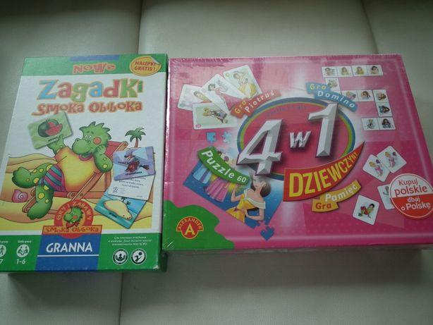 Dwie fajne gry - zagadki Smoka Obiboka i 4 w 1
