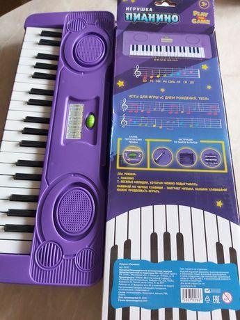 Пианино новое детское