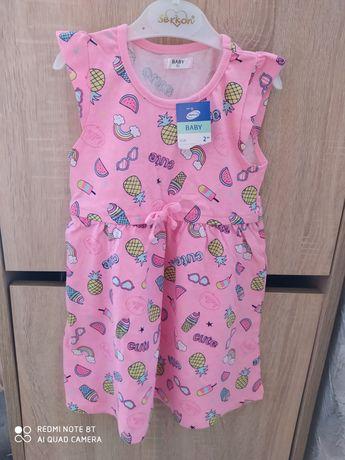 Nowa sukienka dla dziewczynki roz 92