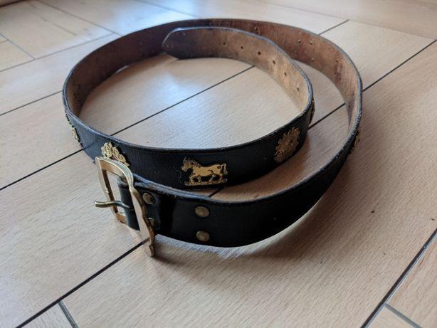 Ремень кожаный appenzeller с символами швейцарских альп