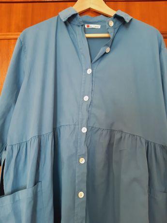Vestido comprido azul