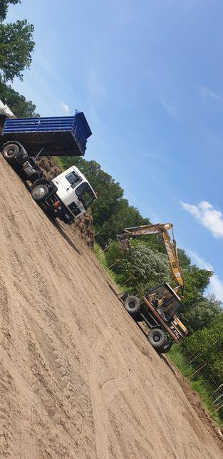 Koparko ładowarka utwardzanie terenu kosta brukowa wyburzenia koparka