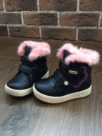 Зимние Clibee зимові ботинки ботиночки сапоги сапожки 23 р. 15 см.