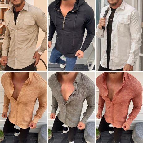 Рубашка Rocqer джинсовая и хлопок КАЧЕСТВО СУПЕР!!! S M L XL