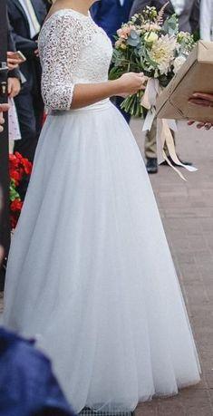 Piękna, elegancka suknia ślubna ROSA MARIE Eleonor rozm. 38/40.