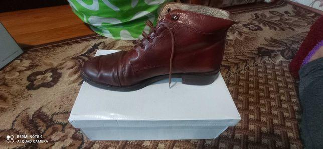Мужские осенние ботинки натуральная кожа итальянские