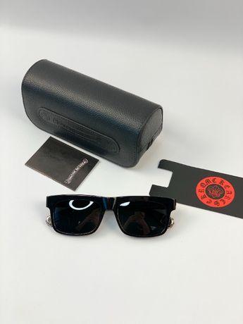 Очки солнцезащитные оправа синяя линза полароид Chrome Hearts g168