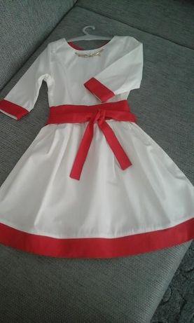 Белое красивое праздничное нарядное платье
