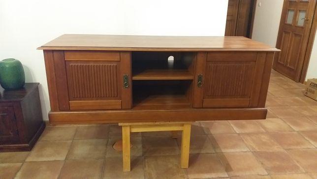 Szafka tv z litego drewna