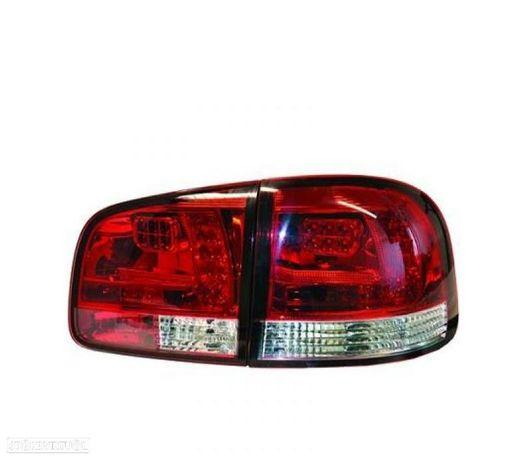 FAROLINS TRASEIROS LED VW TOUAREG 02-10 VERMELHO BRANCO