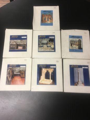 7 kits Miniaturas Alemany em gesso 1/72 e 1/35 para dioramas