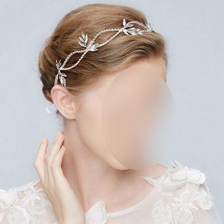 Wianek opaska ozdoba ślubna do włosów tiara