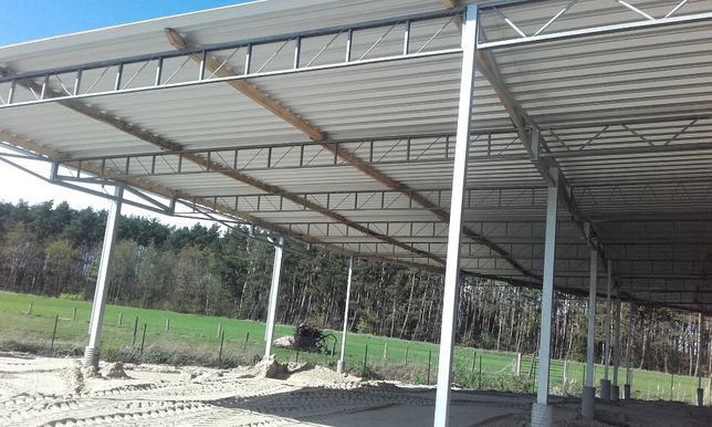 Kratownica 9,5m konstrukcja wiata hala dach stalowy garaż