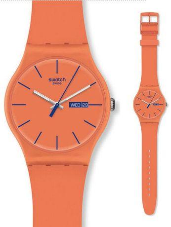Swatch zegarek damski SUOO701 Swatch Orangy Pink Rebel