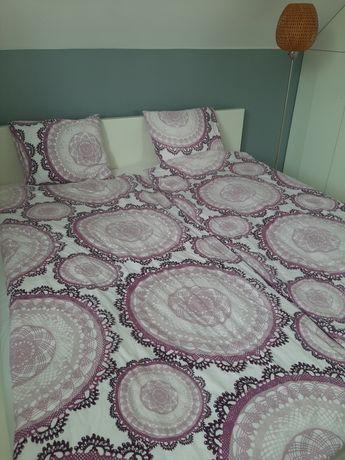 Łóżko Ikea Malm 180x200 białe z materacem stelaż