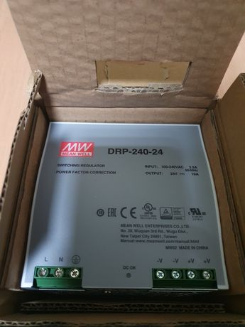 Zasilacz DRP-240-24 Mean Well