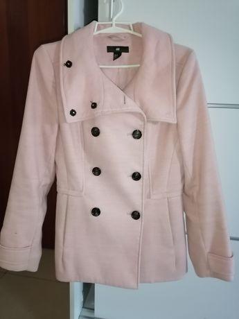 Płaszcz różowy h&m rozm 38
