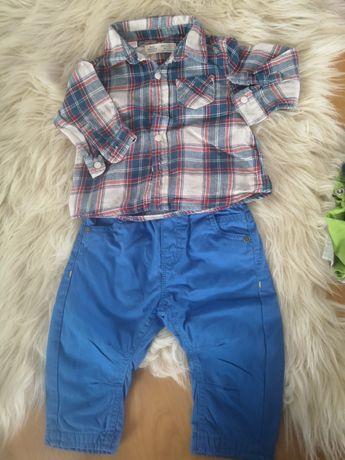 Zestaw koszula Zara spodnie M&S rozm 74