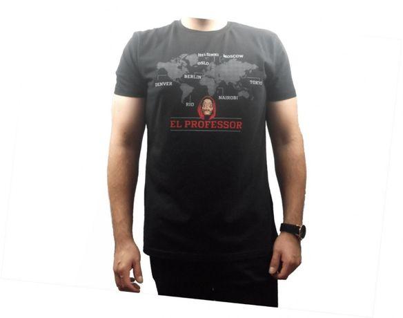 Koszulka Dom z papieru biała, szara, czarna