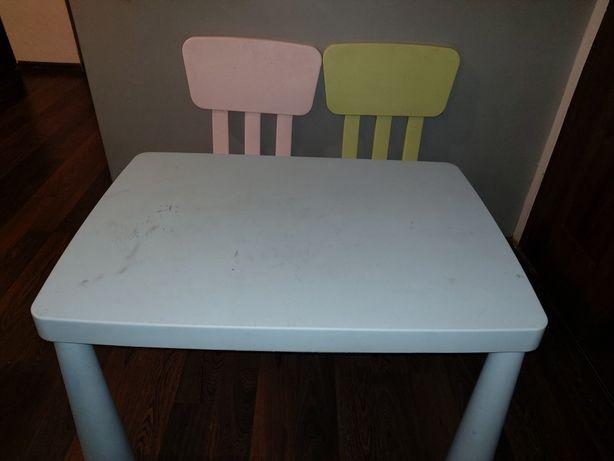 Stolik + dwa krzesła Ikea Mamut
