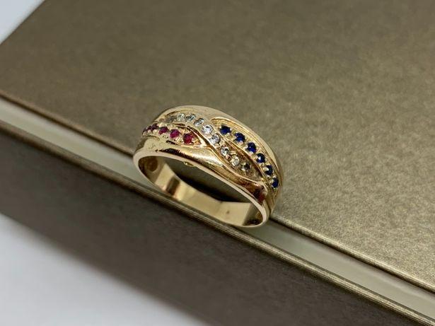 Ładny, złoty pierścionek p585 R-13