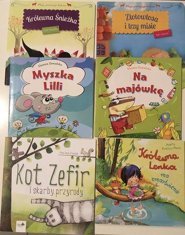 Książeczki dla dzieci 6 sztuk: Złotowłosa i trzy misie, Królewna Lenk