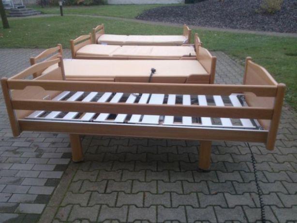 drewniane z elementami stalowymi łóżko rehabilitacyjne