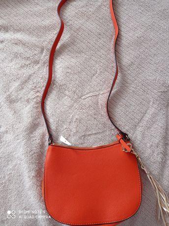 Listonoszka torebka pomarańczowa nowa hm
