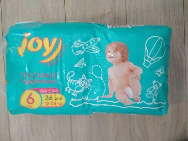 Подгузники трусики Joy 6 15-26 кг, новая упаковка 36шт.Pampers huggies