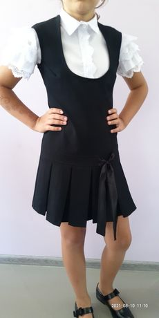 Школьный сарафан и блузка
