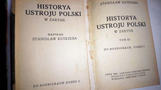 Stara Księga Historya Ustroju Polski 1920 r