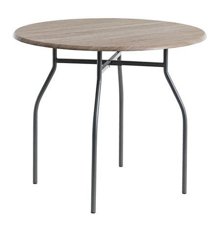 STÓŁ + 4 krzesla / jysk THYHOLM Ś90 cm metal