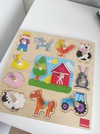 Puzzles variados criança